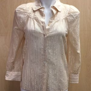 NWT Marc by Marc Jacobs metallic peasant top